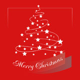 Christmas background with Christmas tree. Christmas card. Royalty Free Stock Photo