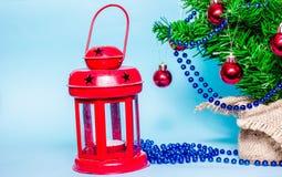 Christmas background, christmas tree, fir tree, gerland Royalty Free Stock Photography