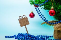 Christmas background, christmas tree, fir tree, gerland Stock Images