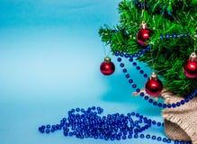 Christmas background, christmas tree, fir tree, gerland Stock Photos