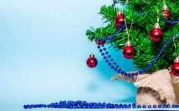 Christmas background, christmas tree, fir tree, gerland Royalty Free Stock Image