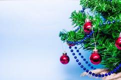 Christmas background, christmas tree, fir tree, gerland Stock Photography