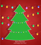 Christmas background with Christmas tree Royalty Free Stock Photography