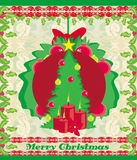 Christmas background with Christmas tree Royalty Free Stock Photo