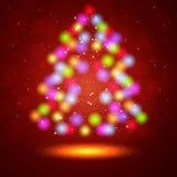 Christmas  background with Christmas tree Stock Image