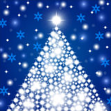 Christmas background with christmas tree Royalty Free Stock Photos