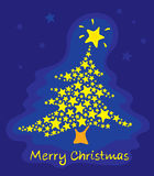 Christmas background with Christmas tree star Royalty Free Stock Images