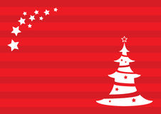 Christmas background with Christmas tree and star. Vector Illustration Stock Photography