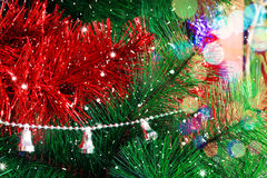 Christmas background with Christmas tree Royalty Free Stock Images
