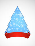 Christmas background with Christmas tree. Royalty Free Stock Photo