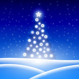 Christmas background with Christmas tree. Vector illustration Stock Photos