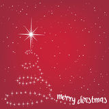 Christmas background with Christmas tree, vector illustration. Stock Photography