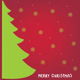 Christmas background with Christmas tree, vector illustration. Royalty Free Stock Photo