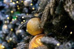 Christmas background with christmass balls royalty free stock photography