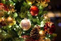 Christmas background with christmass balls Royalty Free Stock Image