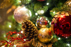 Christmas background with christmass balls Royalty Free Stock Images