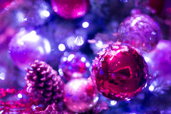 Christmas background with christmass balls Stock Images