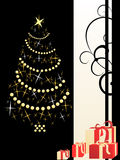 Christmas background with christmastree. Vector illustration of christmasy elements Royalty Free Stock Image