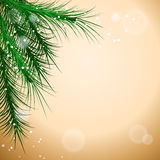 Christmas. Background with chritmas tree on blur. Vector illustration Royalty Free Stock Image