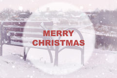 Christmas background circle Royalty Free Stock Photography