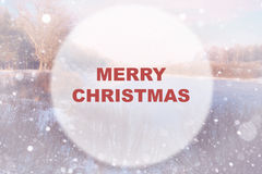 Christmas background circle Royalty Free Stock Images