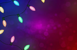 Christmas background with circular sparks. Vector Royalty Free Stock Images