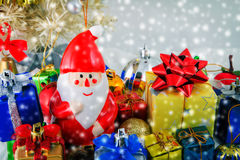 Christmas background. Close up Christmas decoration background Royalty Free Stock Image