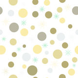 Christmas background with colored circles and snowflakes.Seamless eps10 Royalty Free Stock Images