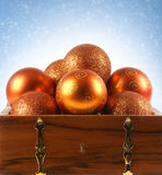 Christmas background with colorful balls Royalty Free Stock Photo