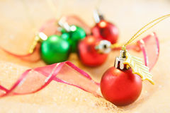 Christmas Background. Colorful christmas balls and christmas decoration royalty free stock image