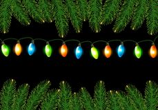 Christmas background with colorful harland Royalty Free Stock Image