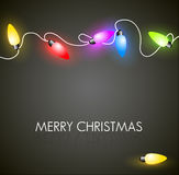 Christmas background with colorful lights vector illustration