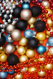 Christmas Background. Colorful Christmas Background with many Christmas Baubles Stock Photos