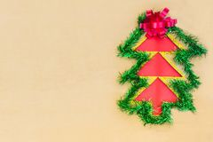 Christmas background with colorful ribbon tree royalty free stock photography