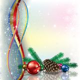 Christmas illustration with ribbons Royalty Free Stock Photography