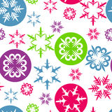 Christmas background with colorful snowflakes Stock Photography