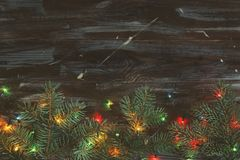 Christmas mood concept. Festive background for winter holidays. royalty free stock photo