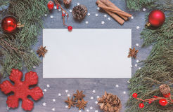 Christmas background with cone Royalty Free Stock Photography