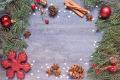 Christmas background with cone Royalty Free Stock Photo