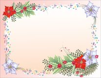 Christmas Background with Confetti Royalty Free Stock Photo