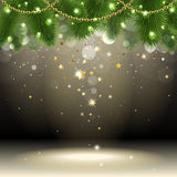 Christmas background with confetti Royalty Free Stock Image