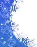 Christmas background with contour balls Stock Photos
