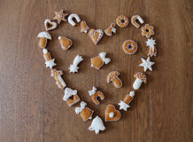 Christmas background with cookies Stock Images