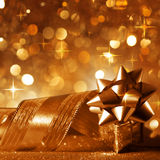 Christmas background in copper Stock Images