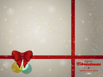 Christmas background copy space with bunting bow and baubles Stock Images
