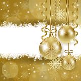 Christmas background with copy space, in gold. Illustration Stock Photo
