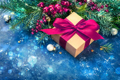 Christmas background with copyspace Royalty Free Stock Image