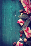 Christmas background with copyspace for a greeting Stock Image