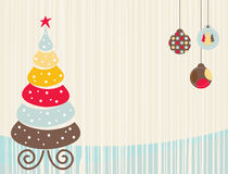 Christmas Background Cream Royalty Free Stock Photos