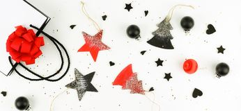 Christmas background. creative abstract composition of xmas decorations Royalty Free Stock Images